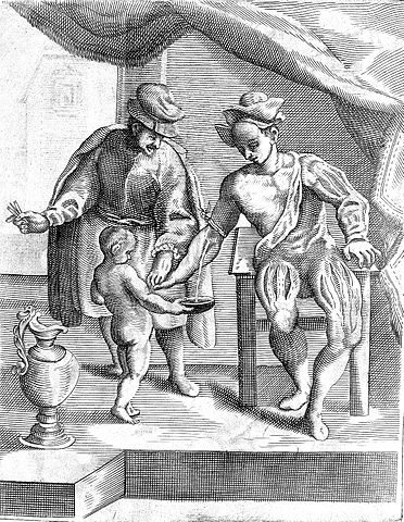 16th century illustration of bloodletting – Bloodletting