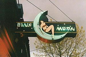 Blue Moon Tavern - Main sign of the Blue Moon Tavern