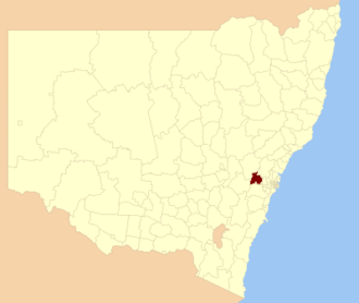 City of Blue Mountains - Location in New South Wales