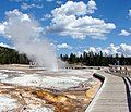 Boardwalk, Old Faithful Basin, Yellowstone 8-2011 (10747641465).jpg