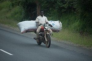 Boda boda - Boda boda driver in Tanzania c. 2017