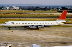 Agadir air disaster - Image: Boeing 707 321C, Alia Royal Jordanian Airline AN1063692