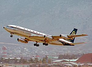 Ellinikon International Airport - Olympic Airways Boeing 707 taking off from Ellenikon in 1973