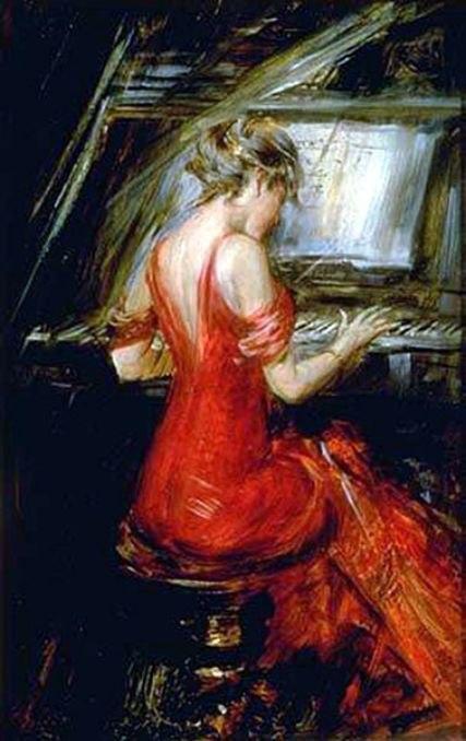 Boldini, Woman in Red