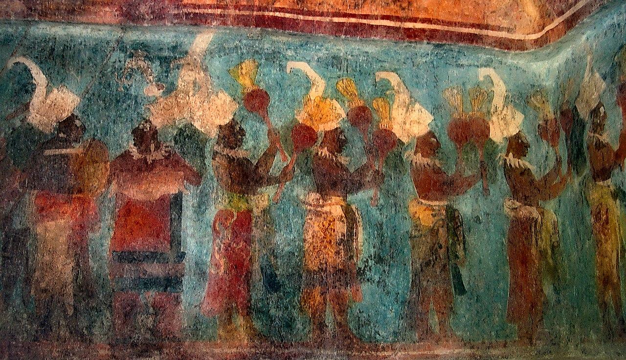 File bonampak painting wikimedia commons for Bonampak mural painting
