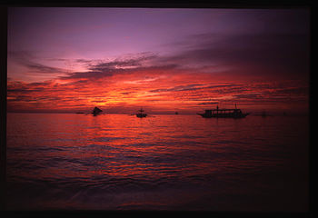 English: Sunset in Boracay, Philippines