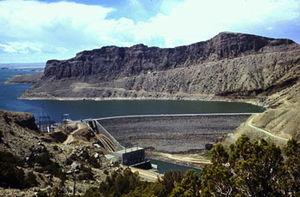 Boysen Reservoir - Boysen Dam and Boysen Reservoir