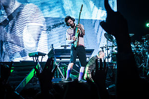 The Hunting Party (album) - Linkin Park performing at Soundwave 2013, during the Living Things World Tour.