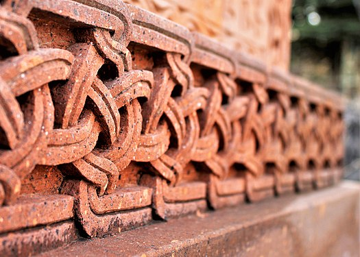 Braided Armenian ornament on the pedestal of khachkar.jpg