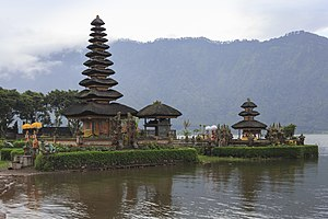 Pura Ulun Danu Bratan - A part of the temple complex, at the edge of Lake Bratan