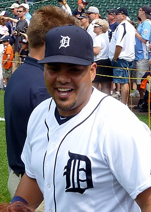 Brayan Peña - Peña with the Detroit Tigers in 2013