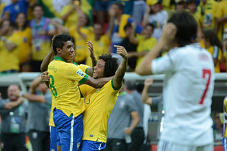 Paulinho (footballer) - Paulinho joined celebrations during 2013 FIFA Confederations Cup.