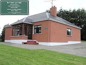 Brian Friel - The childhood home of Brian Friel, at Omagh in County Tyrone