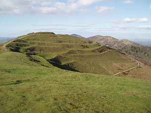 Rampart (fortification) - The multiple ramparts of the British Camp hillfort in Herefordshire