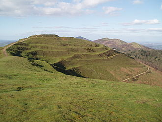 Hillfort - The ramparts of the multivallate British Camp in Herefordshire