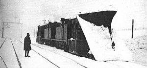 South Durham and Lancashire Union Railway - Snowploughs on the line