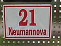 Brno, Neumannova 21, tabulka.jpg