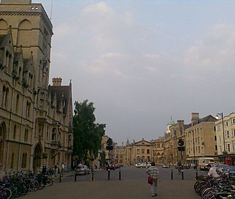 Broad Street, Oxford - Looking east along Broad Street with Balliol College on the left.