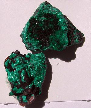 Brochantite - Image: Brochantite