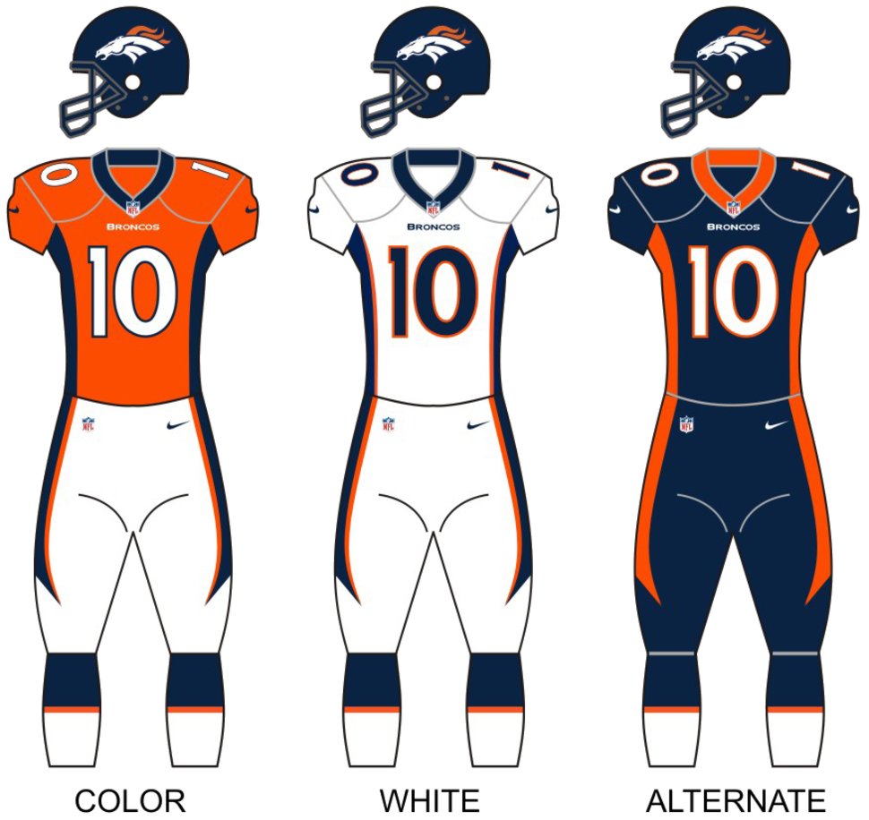 Broncos uniforms