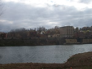 Brownsville, Pennsylvania - View of Brownsville from across the Monongahela River