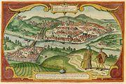 Buda Citerioris Hungariae Caput Regni avita sedes. vulgo Ofen 1617