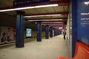 Nyugati pályaudvar (Budapest Metro) - Image: Budapešť, Nyugati Pályaudvar, stanice metra