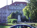 Budapest, I. Bem József tér. Statue of Piski.JPG