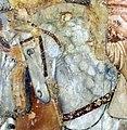 Buffalmacco, trionfo della morte, incontro dei tre vivi coi tre morti 24 cavallo.jpg