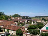 Buhy (95), vue sur l'ouest du village depuis la rue du Trésor.jpg