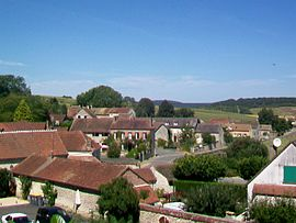 A view from the west of the village, from the Rue du Trésor