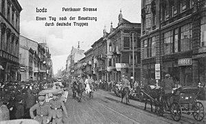 Battle of Łódź (1914) - German soldiers in Łódź, December 1914.