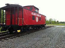 Atlantic Coast Line Railroad in Burgaw, North Carolina.