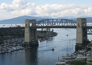 Burrard Bridge - Image: Burrard Street Bridge as gateway