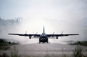 838th Air Division - C-130 taking off during an exercise