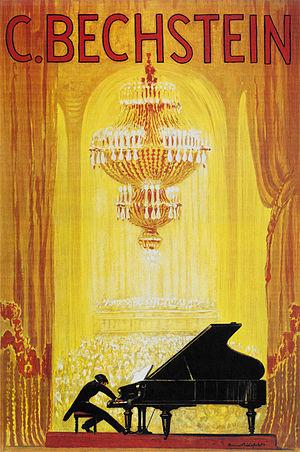 C. Bechstein - A 1920 C. Bechstein advertisement poster