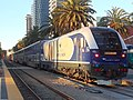 CDTX 2116 with the Pacific Surfliner at San Diego, March 2019.jpg
