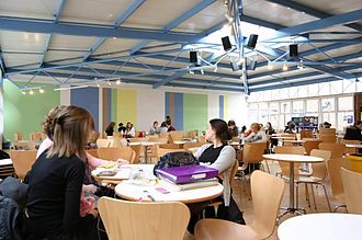 Sixth Form College, Farnborough - Cafe Direct, one of three canteens