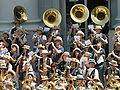 Cal Band at Cal Day 2010 spirit rally 9.JPG
