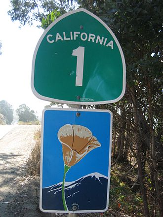 State Scenic Highway System (California) - Sign on SR 1