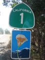 California State Route 1 All American Road sign.jpg