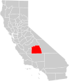 California county map (Tulare County highlighted).svg