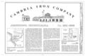 Cambria Iron Company, Title Sheet - Cambria Iron Company, East side of Conemaugh River, Johnstown, Cambria County, PA HAER PA,11-JOTO,135- (sheet 2 of 8).png