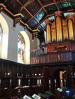 Interior of the chapel
