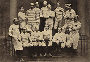 John Guthrie Tait - Tait with the 1880 Cambridge Varsity Match team. Tait is stood second on left with arms behind his back.