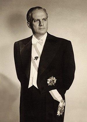 Camille Chamoun - Camille Chamoun's Presidential portrait, 1952.