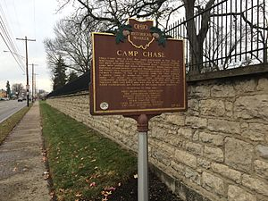 Hilltop, Columbus, Ohio - Camp Chase state historical marker