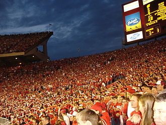 Camp Randall Stadium - Badger fans fill the stadium during a 2005  football game with Michigan
