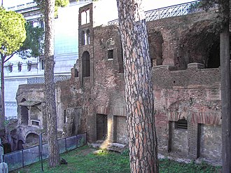Insula (building) - Remains of the top floors of an insula near the Capitolium and the Aracoeli in Rome