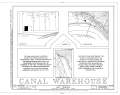 Canal Warehouse, Scottsville, Albemarle County, VA HABS VA,2-SCOTS,9- (sheet 1 of 9).png